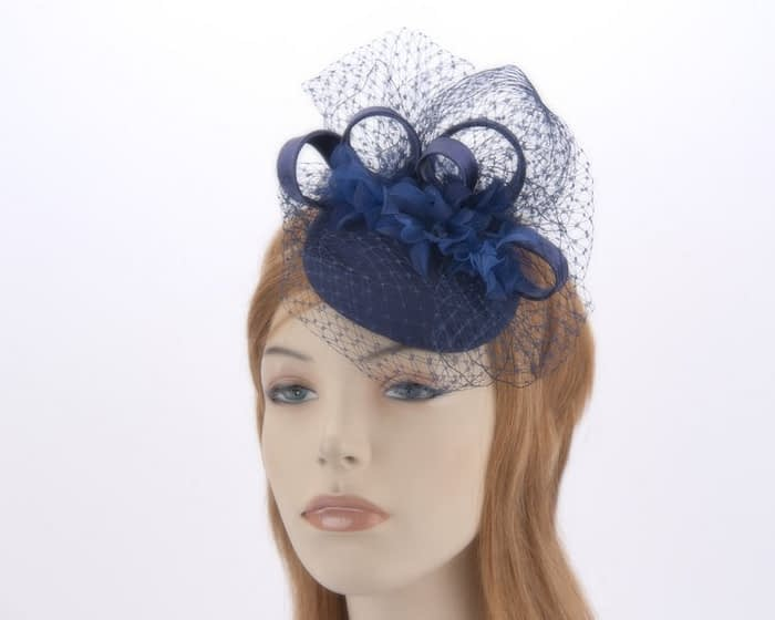 Navy cocktail hat 4786N Fascinators.com.au
