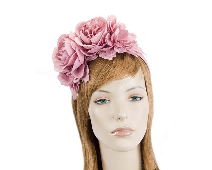 Dusty pink flower headband by Max Alexander Fascinators.com.au