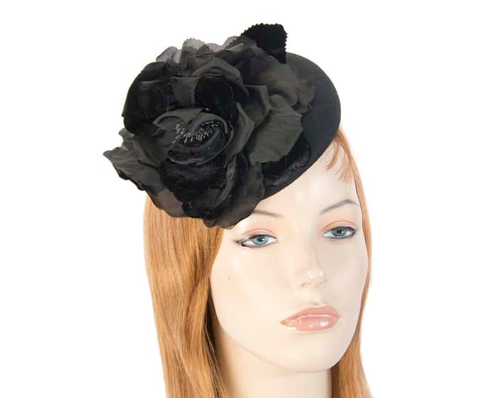 Black pillbox F539B Fascinators.com.au
