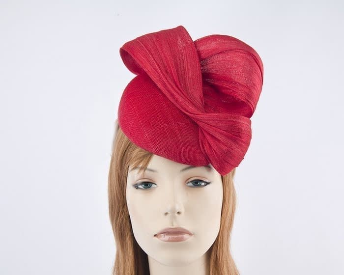 Australian made red Fillies Collection pillbox fascinator S163R Fascinators.com.au