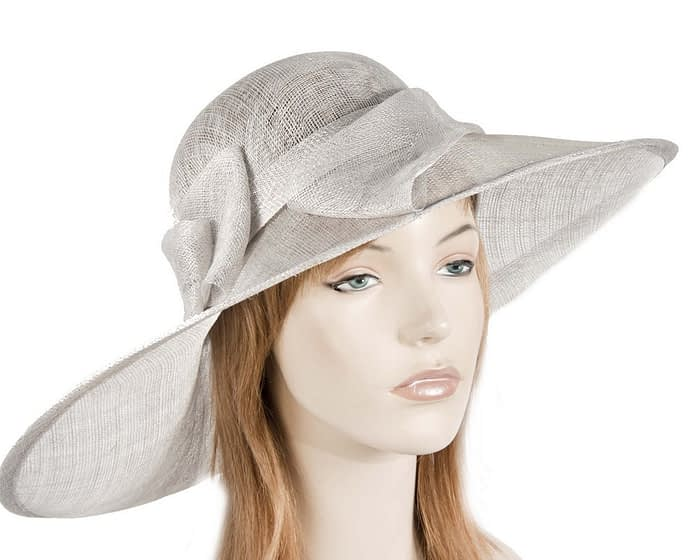 Large silver ladies hat Fascinators.com.au