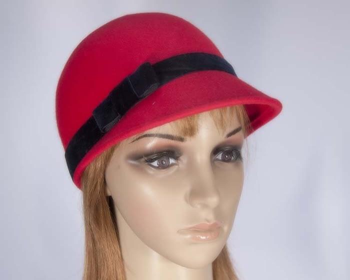 Red jockey hat SP262R Fascinators.com.au