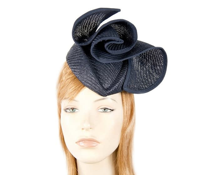 Navy stewardess pillbox fascinator hat Fascinators.com.au