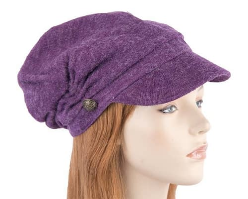 Purple beret J266P Fascinators.com.au