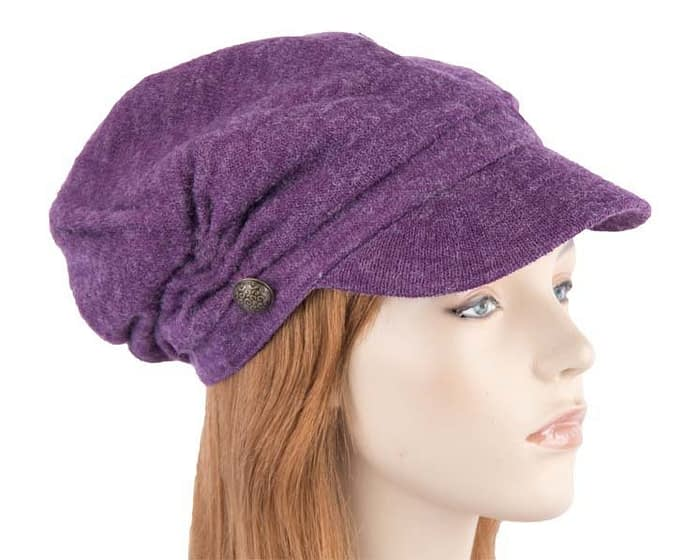 Purple beret J266P Fascinators.com.au