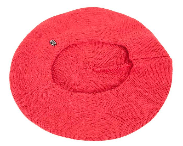 Classic warm red wool beret. Made in Europe Fascinators.com.au