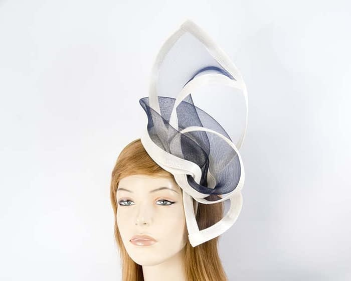 Cream & navy fascinators Fascinators.com.au