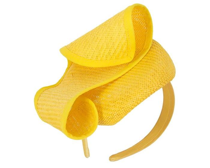 Yellow designers pillbox fascinator Fascinators.com.au