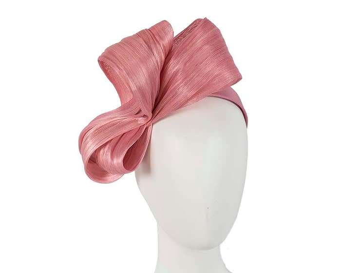 Large dusty pink bow racing fascinator by Fillies Collection Fascinators.com.au