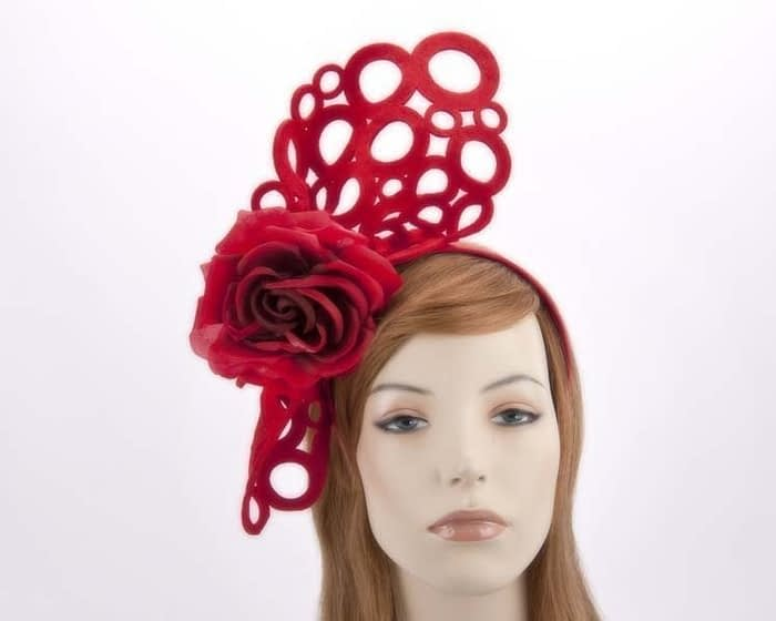 Red racing fascinator S140R Fascinators.com.au