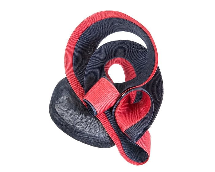 Designers navy & red pillbox racing fascinator by Fillies Collection Fascinators.com.au