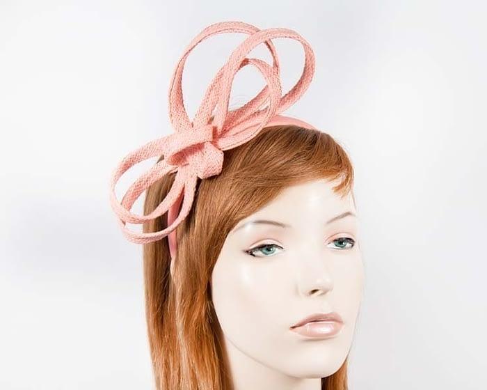 Stylish coral loops on headband Fascinators.com.au