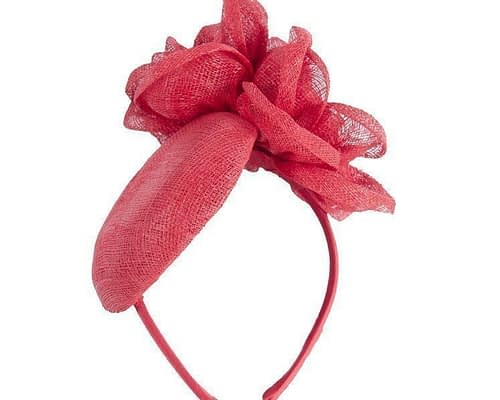 Small red pillbox Fascinators.com.au