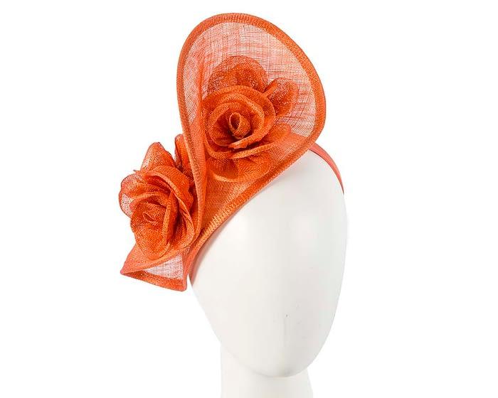 Burnt Orange sinamay fascinator on headband by Max Alexander Fascinators.com.au