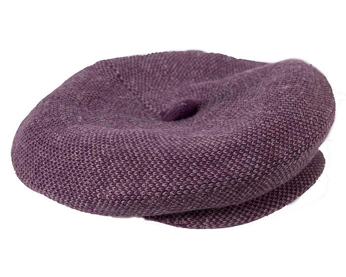 Classic warm purple wool beaked cap. Made in Europe Fascinators.com.au