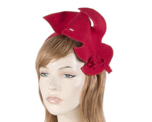 Red felt fascinator from Max Alexander J293R Fascinators.com.au