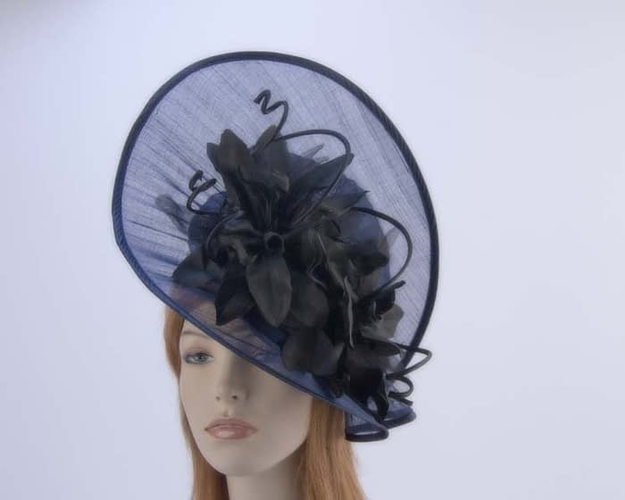 Navy black hat S970NB Fascinators.com.au