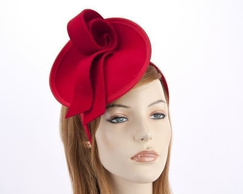 Red felt fascinator from Max Alexander J305R Fascinators.com.au