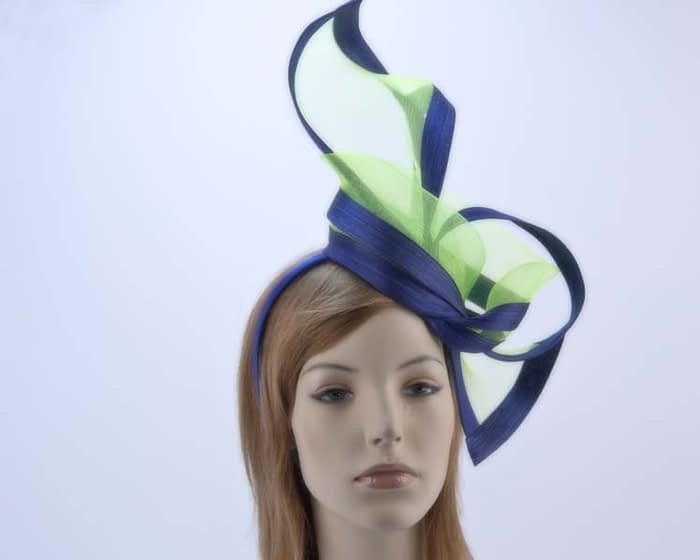 Lime blue fascinator S107LB Fascinators.com.au