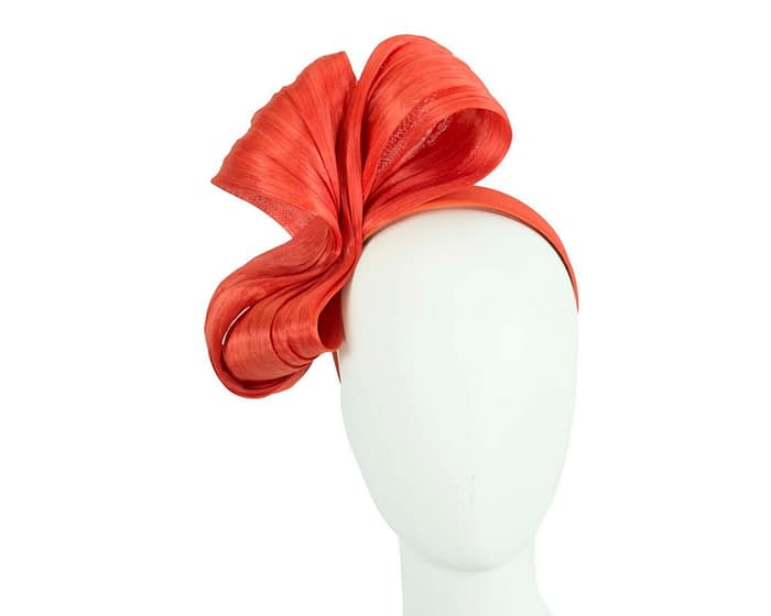 Large orange bow racing fascinator by Fillies Collection Fascinators.com.au