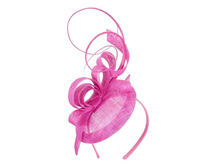 Tall fuchsia racing fascinator by Max Alexander Fascinators.com.au