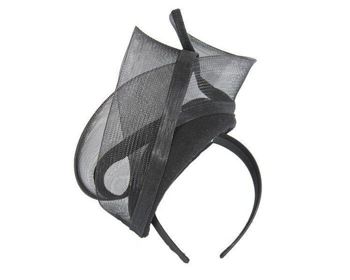 Black pillbox with crinoline trim Fascinators.com.au