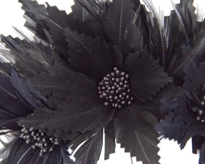 Black feather crown Fascinators.com.au