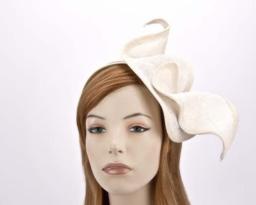 Cream designer racing fascinator MA658C Fascinators.com.au