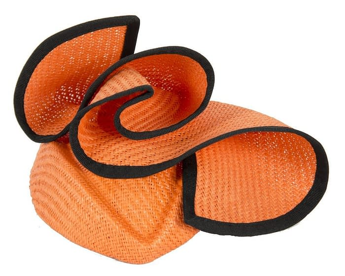 Orange & black stewardess pillbox fascinator hat Fascinators.com.au