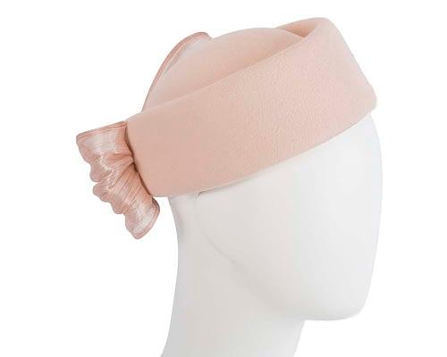 Beige Jackie Onassis felt beret by Fillies Collection Fascinators.com.au