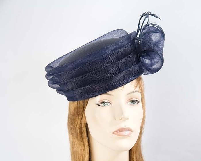 Navy fashion hat Fascinators.com.au