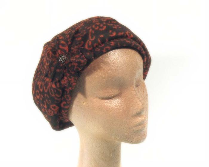 Rust beret hat J269R Fascinators.com.au