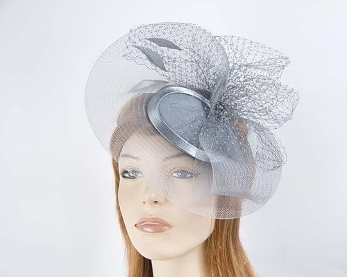 Steel mother of the bride hat Fascinators.com.au