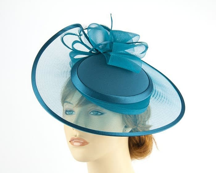 Teal fashion hats H835TE Fascinators.com.au