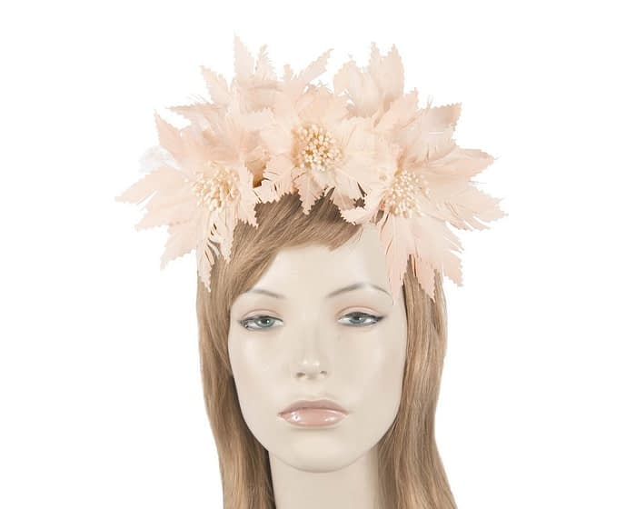 Blush feather crown Fascinators.com.au