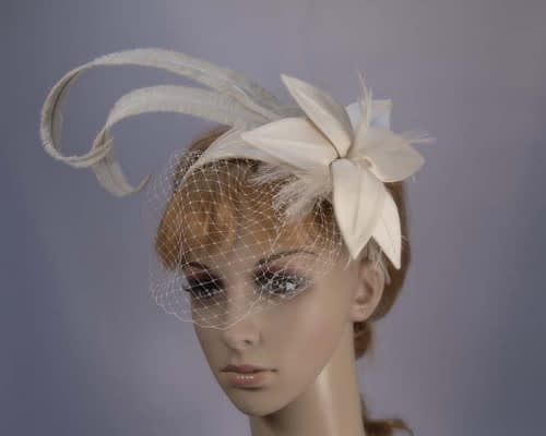 Champagne fascinator K4799VCM Fascinators.com.au