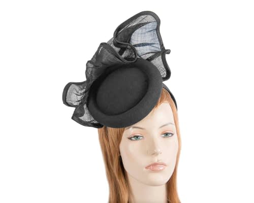 Tall black winter fascinator by Fillies Collection Fascinators.com.au