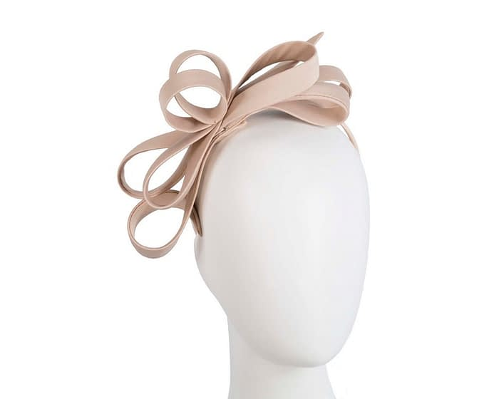 Nude bow racing fascinator Fascinators.com.au