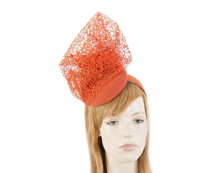 Designers orange winter fascinator by Fillies Collection Fascinators.com.au