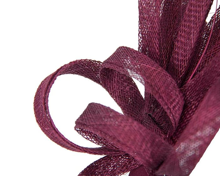 Burgundy wine racing fascinator by Max Alexander Fascinators.com.au