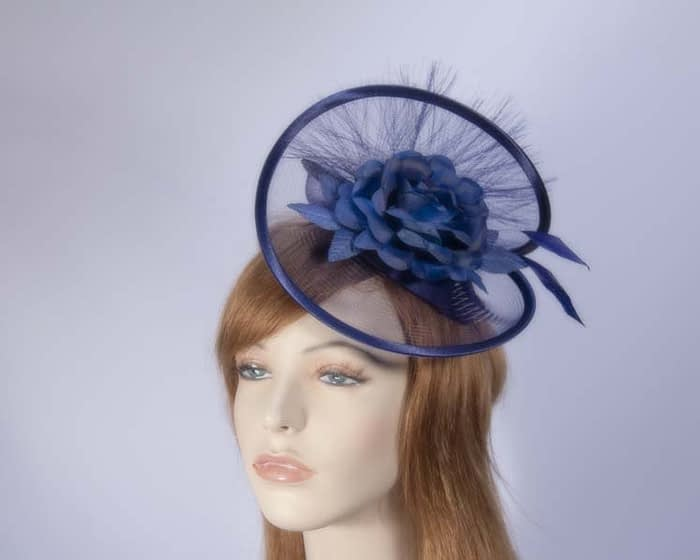 Navy cocktail hats K4807N Fascinators.com.au