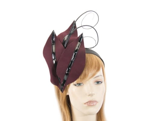 Bespoke wine felt racing fascinator Fascinators.com.au