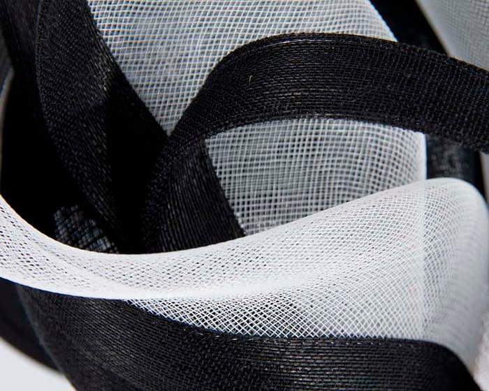 Exclusive black & white fascinator for races by Fillies Collection Fascinators.com.au
