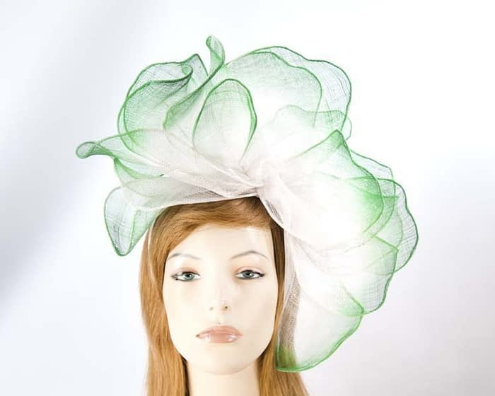 Large green racing fascinator Fascinators.com.au