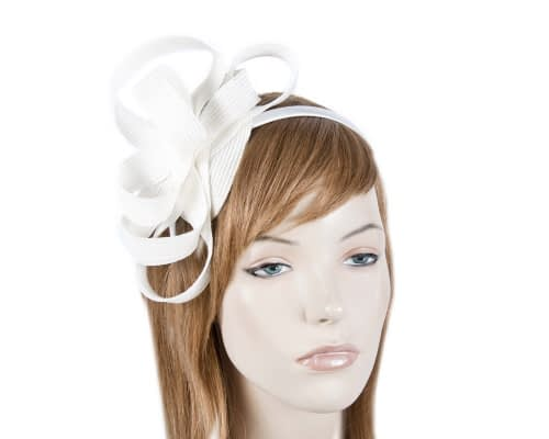 Ivory loops racing fascinator Fascinators.com.au