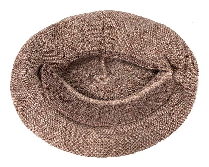Classic warm coffee wool beaked cap. Made in Europe Fascinators.com.au