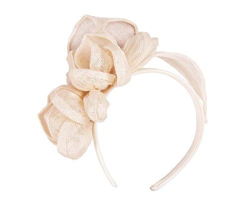 Nude sinamay flowers headband Fascinators.com.au