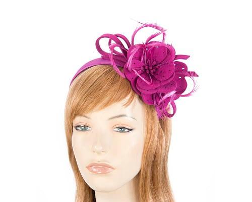 Fuchsia felt flower headband fascinator Fascinators.com.au