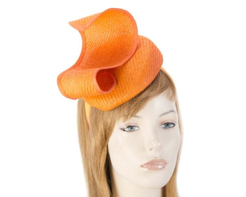 Orange designers pillbox fascinator Fascinators.com.au