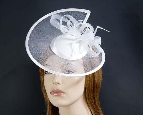 White cocktail hats K4806W Fascinators.com.au